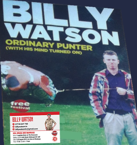 comedian, billy watson, billywatsontv, comedy, humour, edinburgh, scottish, festival
